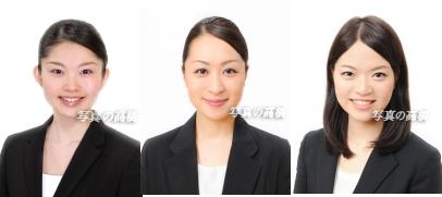 転職活動写真・就職活動写真は東京で撮影・就職活動写真 髪型 ,表情見 本に