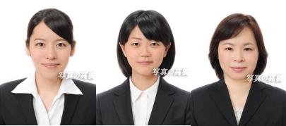 就職活動写真 転職活動写真 髪型 服装 表情写真の高橋