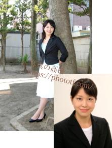 エアライン CA キャビンアテンダント写真,屋外スナップ写真見本(C)写真の高橋 2003東京写真館 全身写真