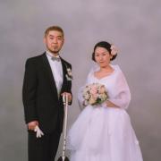 ブライダル写真 写真館 東京 江戸川区写真の高橋 ペットと一緒に結婚写真2