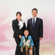 七五三 ご家族で記念写真