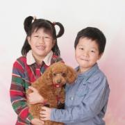 ペットと一緒家族写真