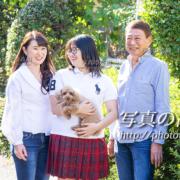 東京,家族写真,ペットと一緒