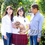 家族写真,ペットと一緒
