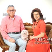 ペットと家族写真,毎年お見えです。