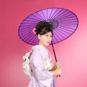 日本的なムードある成人式記念写真 江戸川区