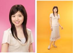 写真 女子アナウンサーをめざして就職写真 華あるアナウンサー 就職活動写真 見本C