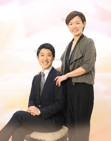 家族写真は江戸川区,ご夫婦で。