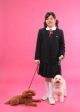 ペットとの撮影は東京で。お姉ちゃんの入学祝いにペット 犬ちゃんと