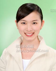 証明写真 エアライン客質乗務員応募用  気取らない自然な笑顔が美しいエアライン就職活動証明写真