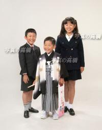 東京 江戸川区で七五三写真 5歳の七五三 写真 笑顔で兄弟と