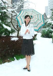客室乗務員 スナップ写真 2月3日大雪でもロケ決行