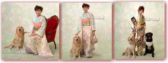 江戸川区写真館で成人式写真 ペットと一緒に ワンチャンと一緒に成人式写真 髪型も参照