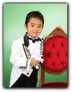 東京 江戸川区写真館 七五三 写真 5歳 かっこいい洋装で記念写真
