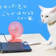 PCのUSBから涼を取る エコ扇風機。