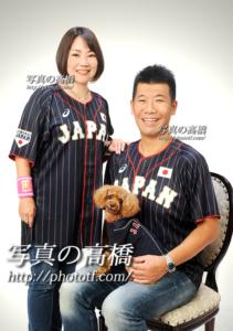 東京,家族写真,ペットトイプードルと一緒に撮影