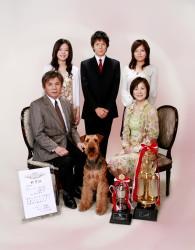 日本一の警察犬と家族写真