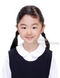 小学校受験 お受験願書用写真 可愛い女の子のお見本