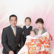 お宮参り ご家族写真2江戸川区写真館