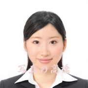 就職活動証明写真髪形 ハーフアップ例 1