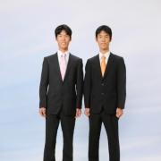 成人式撮影双子さんです。