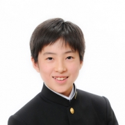 中学入学の記念写真