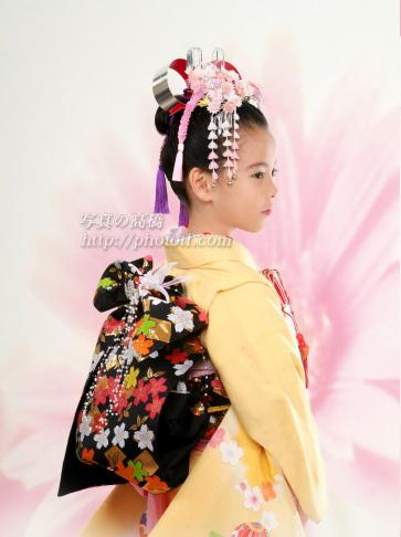 東京の写真スタジオで七五三写真 江戸川区 7歳 髪形 写真館