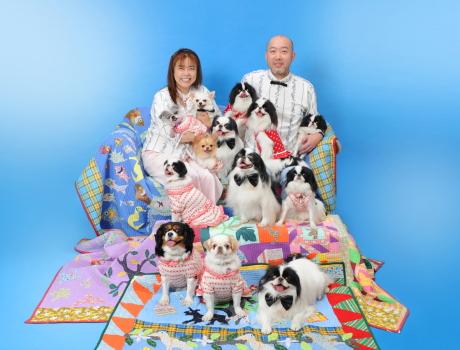 ペットと家族写真 撮影