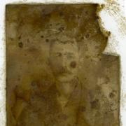 大切なご先祖様の肖像写真。修復前です。