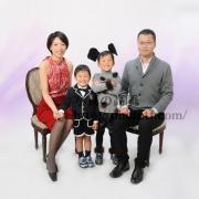 趣向こらしての 家族写真は東京