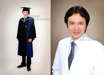 卒業写真 写真館で記念撮影 東大大学院