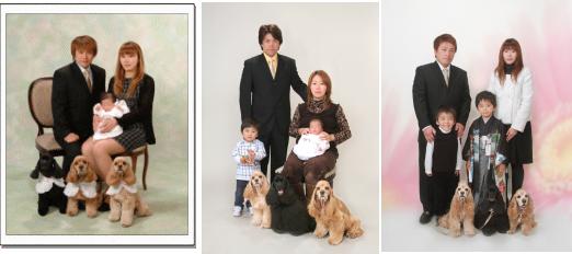 お宮参り写真ペットと一緒江戸川区の写真館写真の高橋