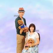 ペットと一緒の写真 ペットとの撮影 家族写真は東京