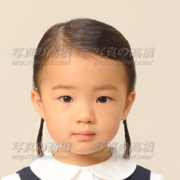 幼稚園受験写真,髪型服装見本