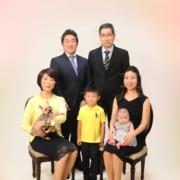 家族写真,,ペットと一緒