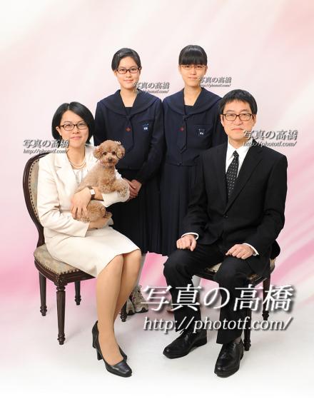 家族写真 ペットと一緒に楽しいお時間はいかが