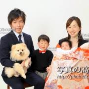 ペットと一緒にお宮参り記念写真,江戸川区写真スタジオ