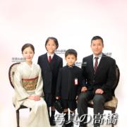 入学式家族写真