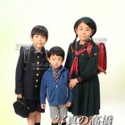 入学式記念写真 3人揃って!