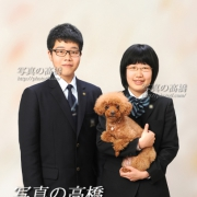 ペットと家族写真、ご家族で毎年お見えです
