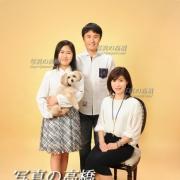 ペットと一緒家族写真 江戸川区写真館