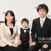 幼稚園受験写真 家族写真