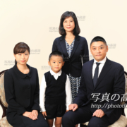 お受験写真の家族写真
