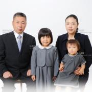 小学校願書用家族写真 お受験 髪型 服装 例