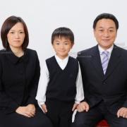 小学校受験用家族写真 このご家族様は七五三,入学写真もお越しくださいました