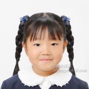小学校お受験写真 髪型 三つ編み 例
