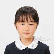 小学校受験写真 女子服装 白襟刺繍OKです