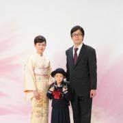 入学ご家族写真