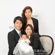 小岩,家族みんなでお宮参り記念写真
