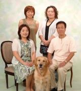 上,はペットアイドル平野ミキちゃんのご家族写真です。